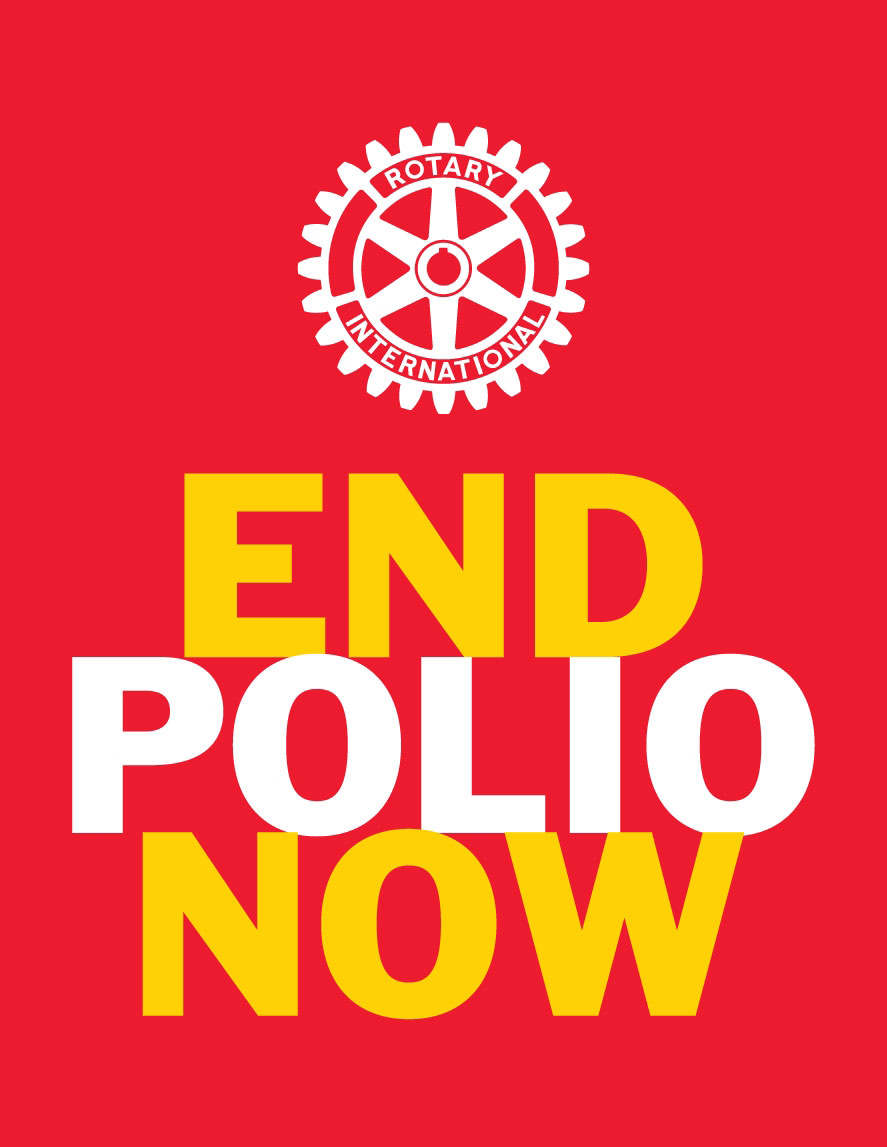 End Polio Now Logo with Rotary Wheel