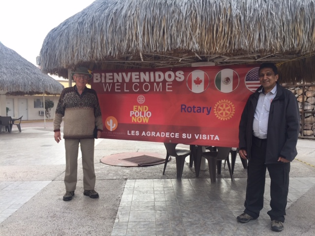 Welcome banner sign at Caborca, Mexico