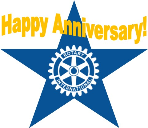Image result for happy anniversary rotary