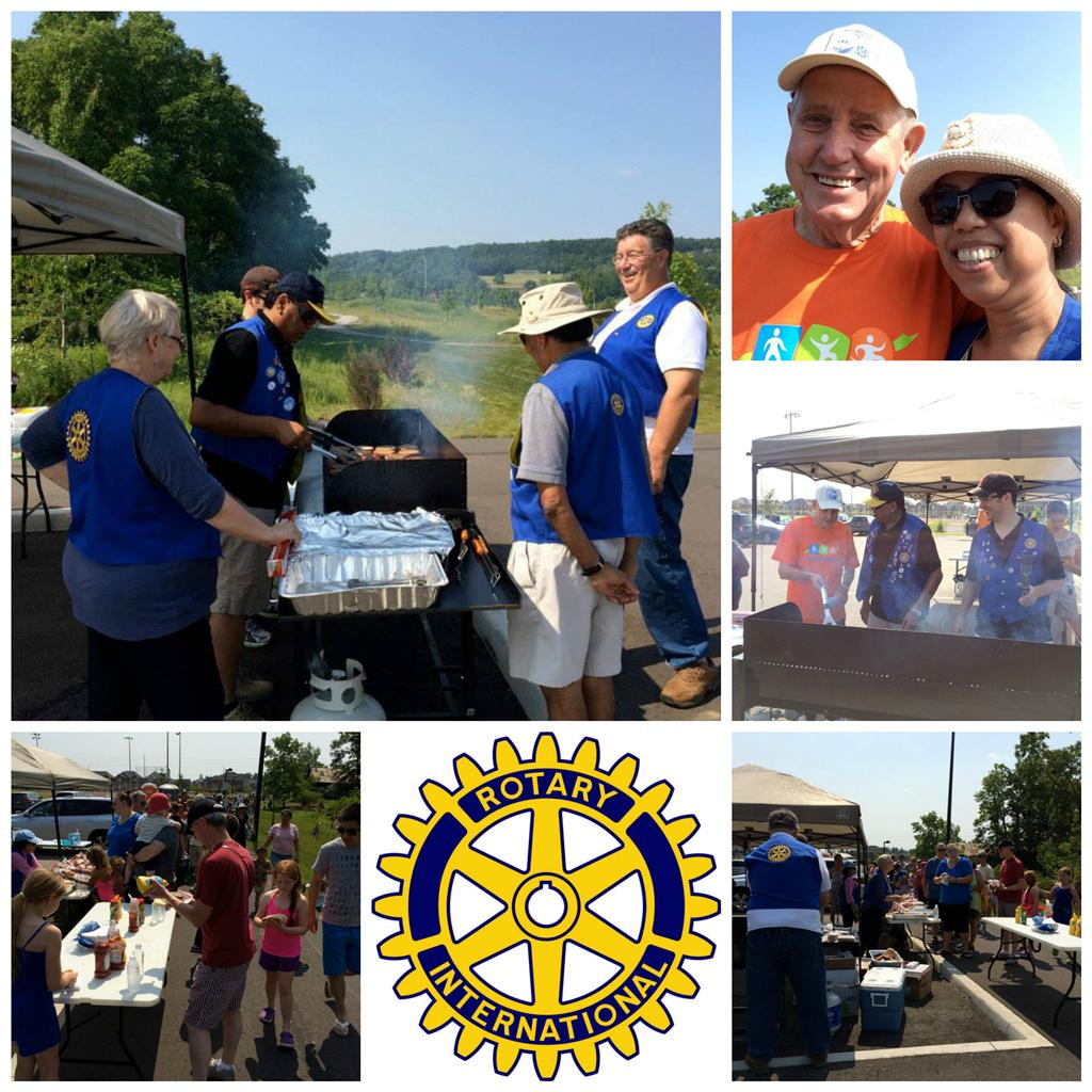 Rotary Feeds 700 at Sherwood District Park Opening