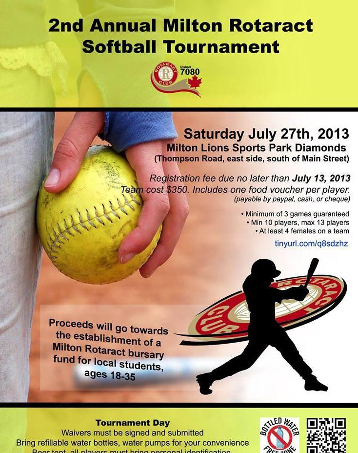 Milton Rotaract Softball Tournament