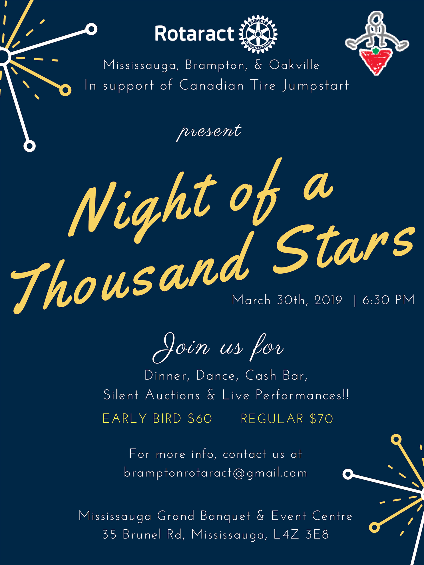"74bad204522 ""A Night of a Thousand Stars"" is a chance for Rotarians and friends to join  Rotaractors in an evening of dining and dancing on March 30 at the  Mississauga ..."