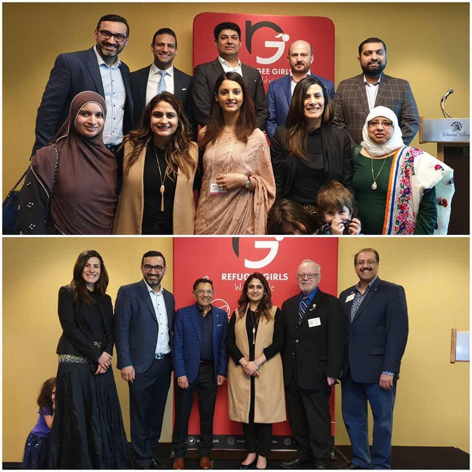 39a1a5792 Rotary District 7080 Foundation Chair Norm Bindon and RC Brampton Director  Int l Service joined executives of Refugee Girl