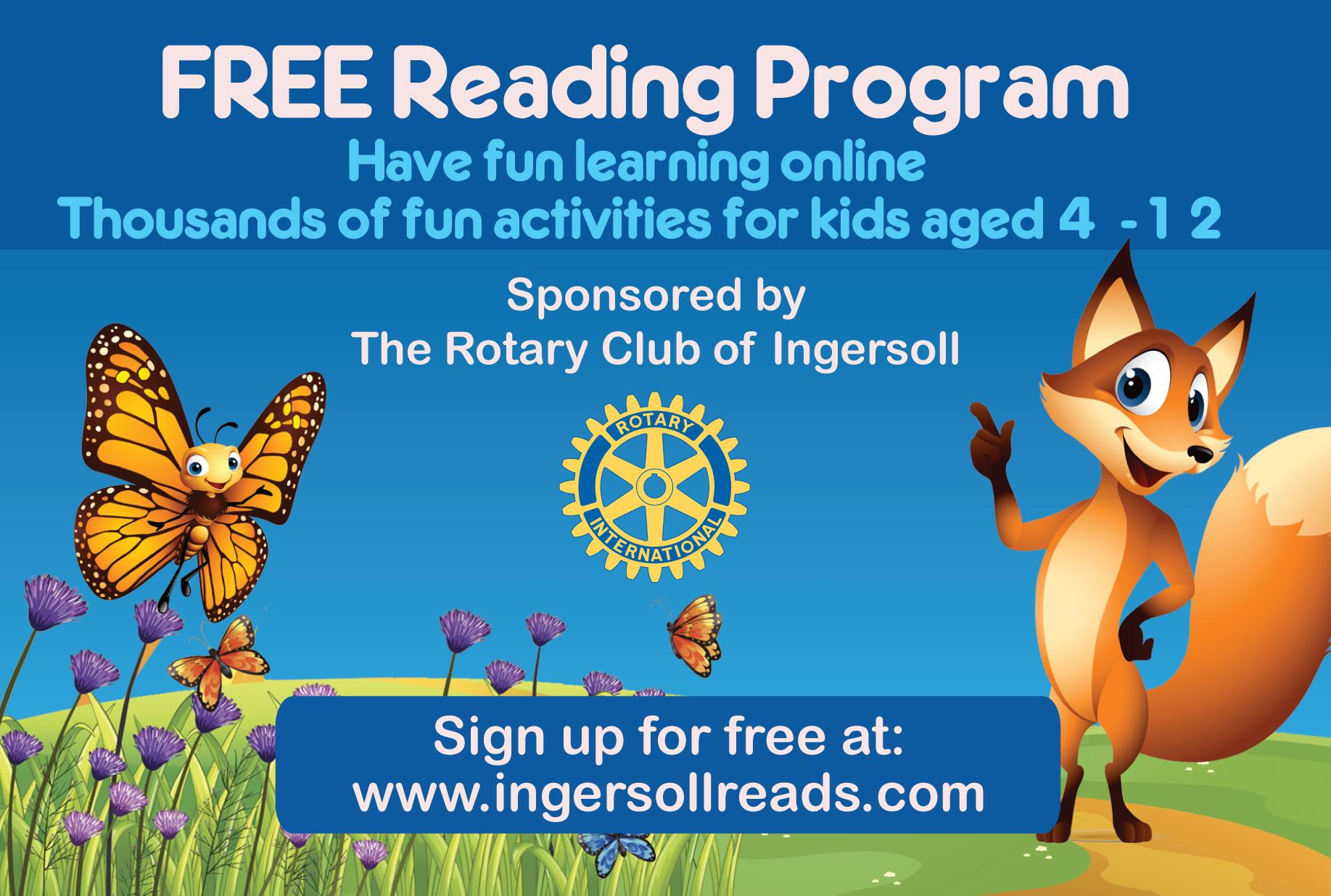 Rotary Club of Ingersoll FREE Reading Program   The Rotary Club of ...