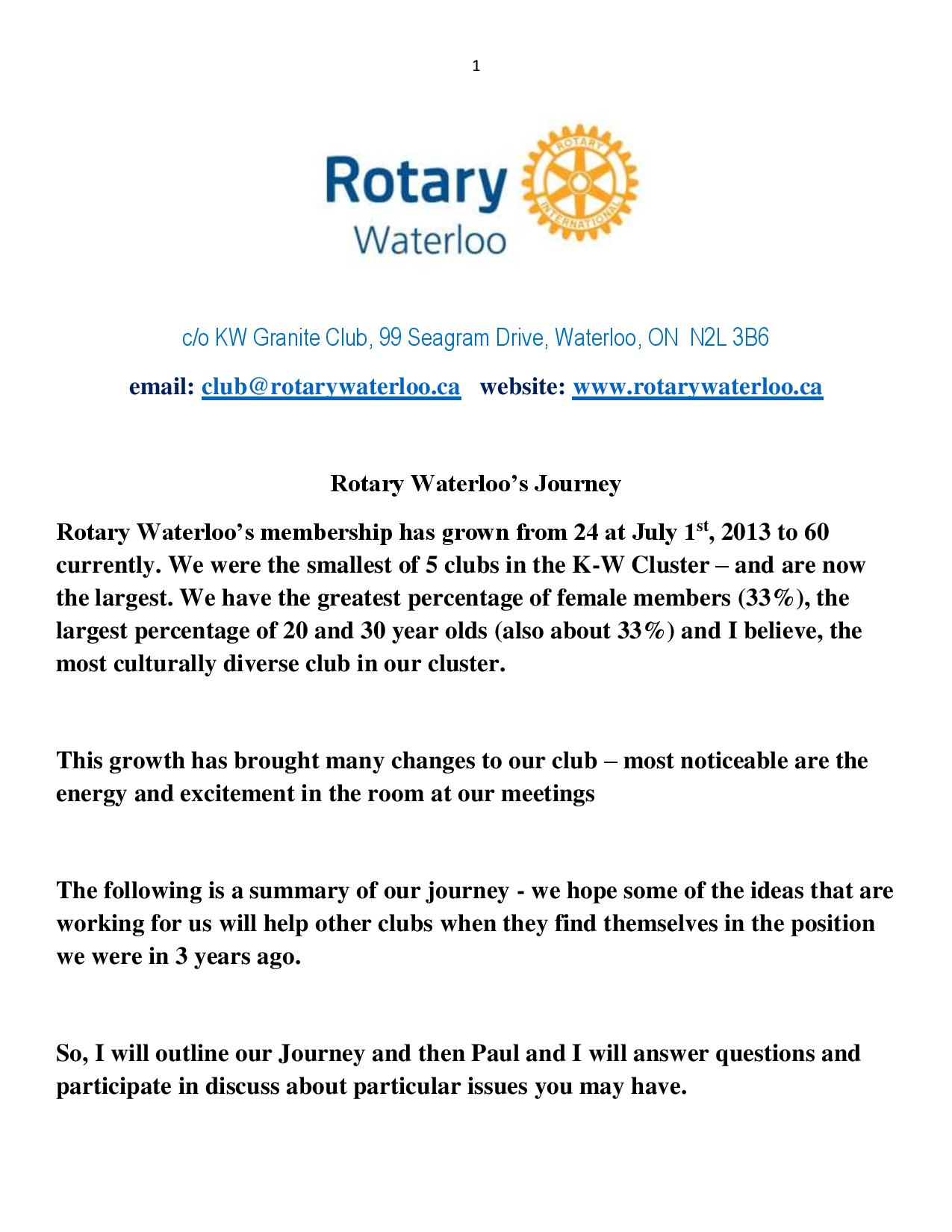 Rotary Recruitment Ideas
