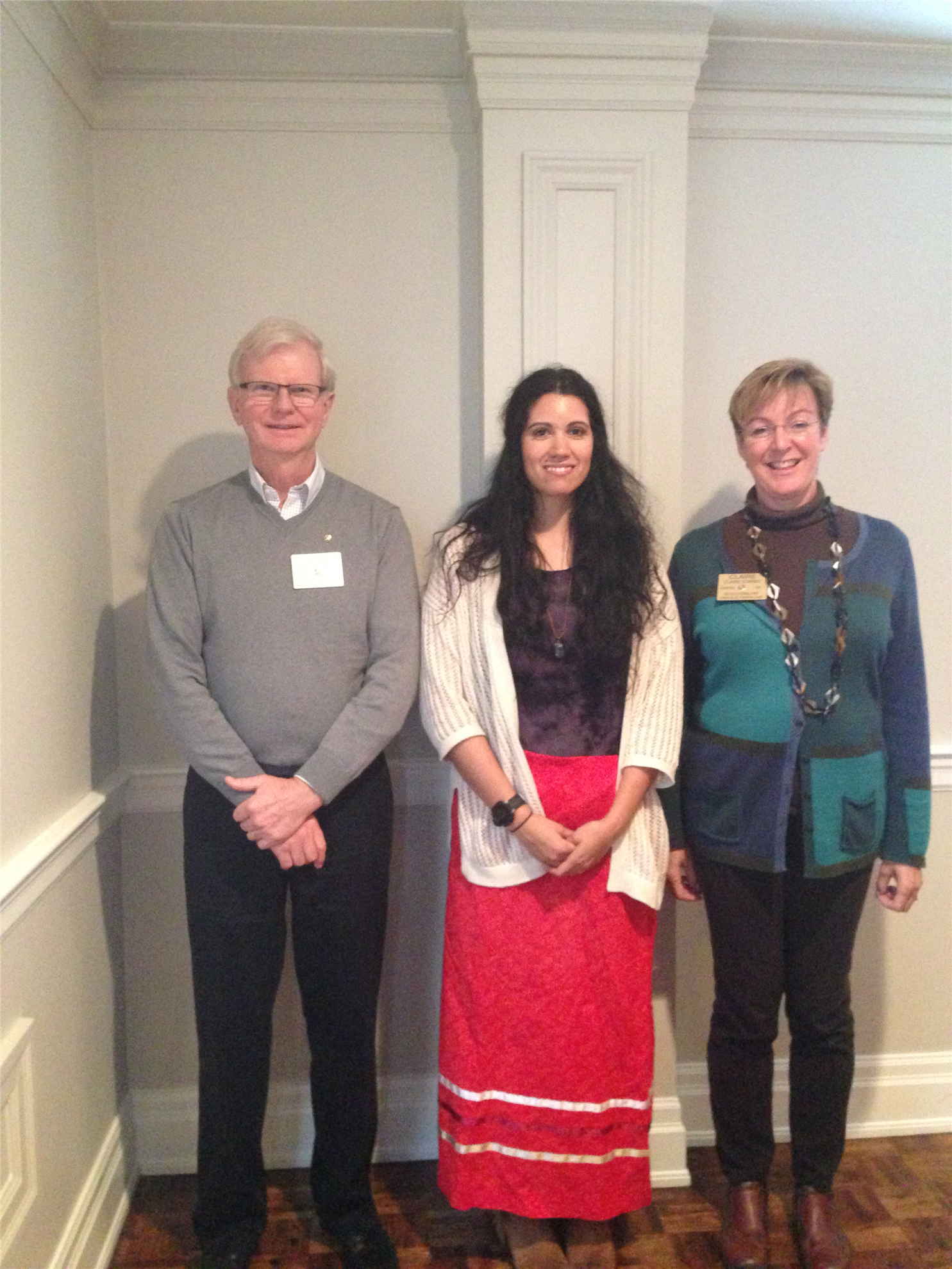 In the photo below is Stepfanie Johnston the first recipient of the Rotary  Indigenous Scholarship with Cliff Thompson and Claire Conway.