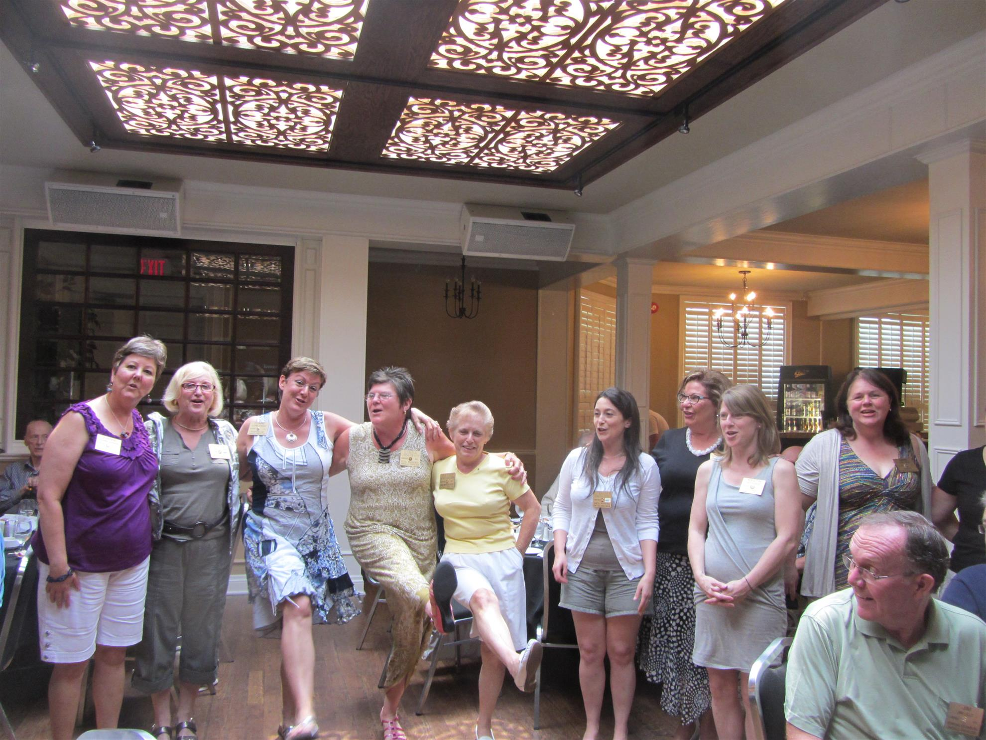 The photo below is some of the club ladies in 2013.