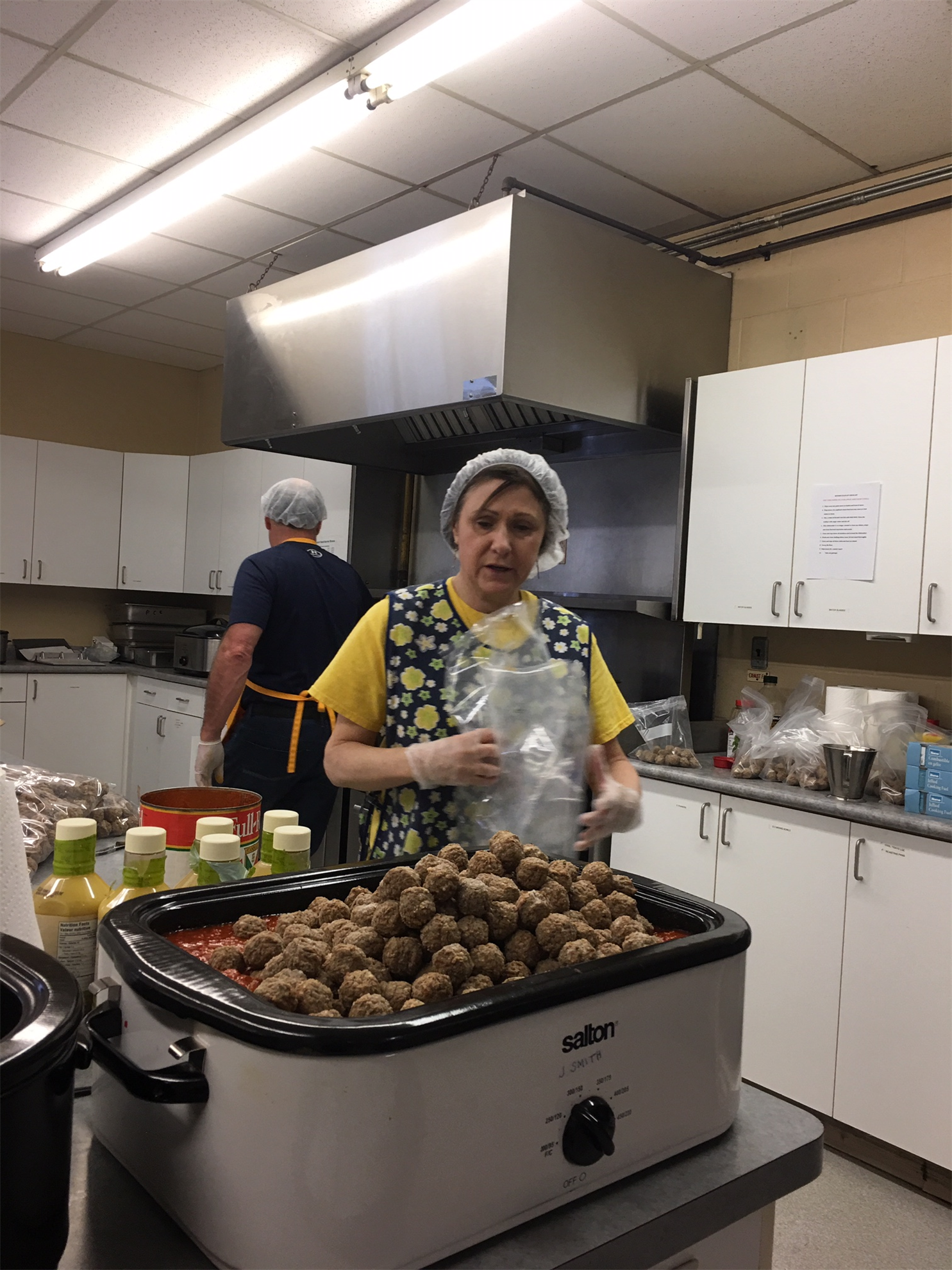 President Linda and those amazing meatballs!