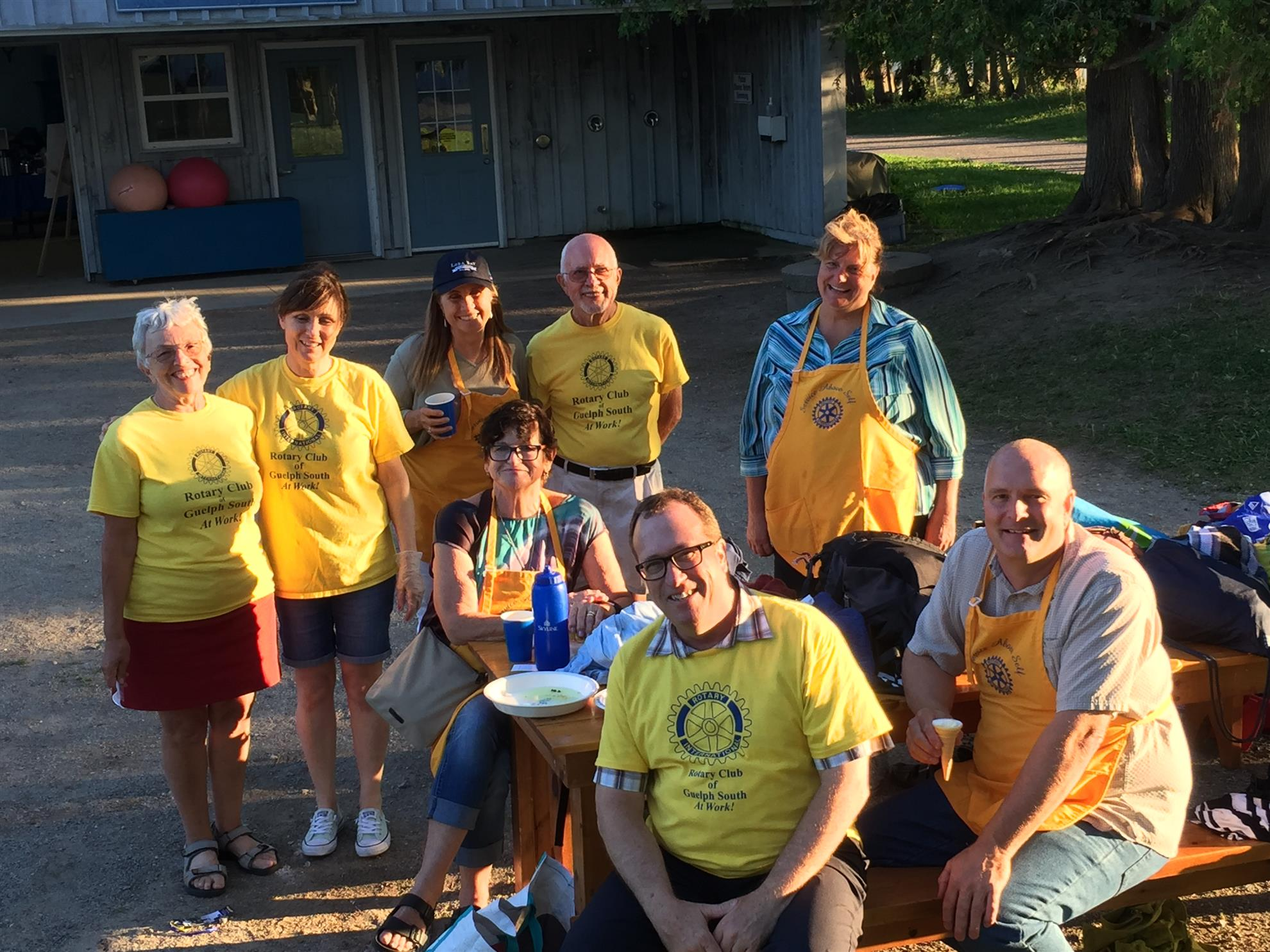 Rotary Club of Guelph South volunteers