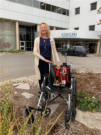 Merlin visits Guelph General Hospital