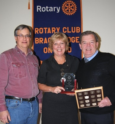 photo of 2019 Citizen of Year - with Pres Andrew and Doug
