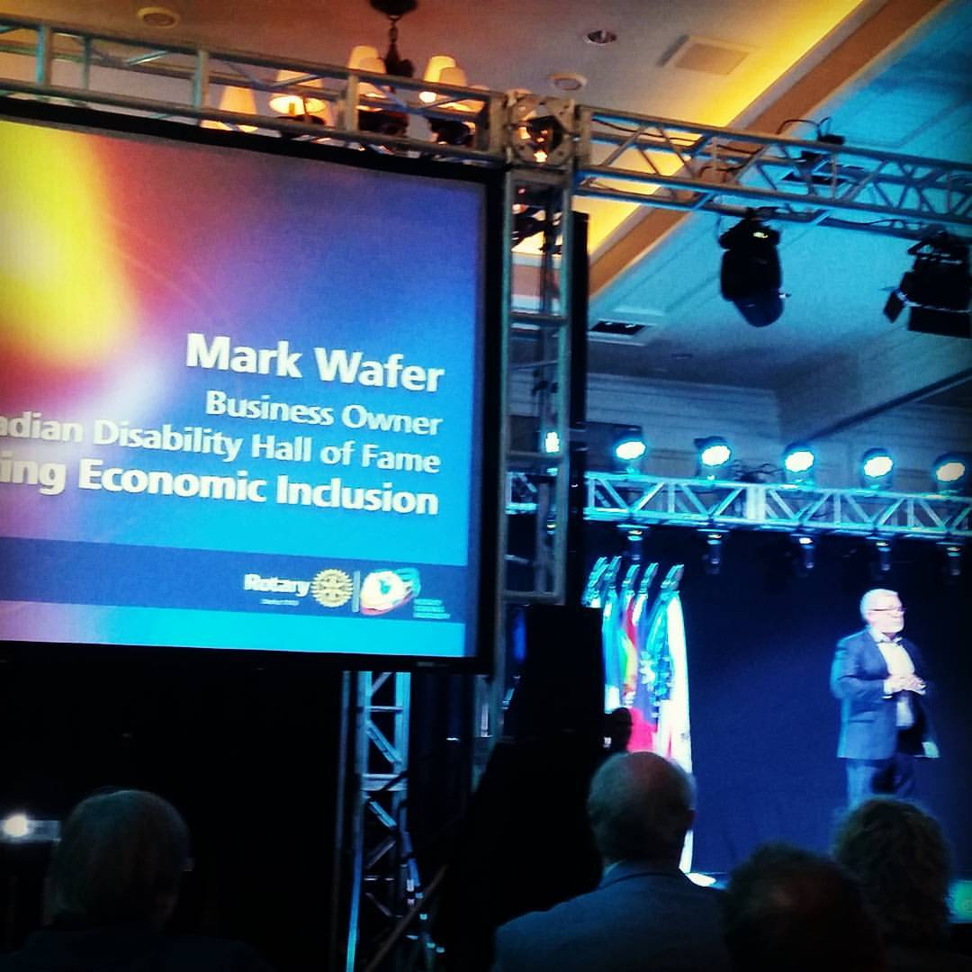 amazing presentation by mark wafer at our rotary conference rotary
