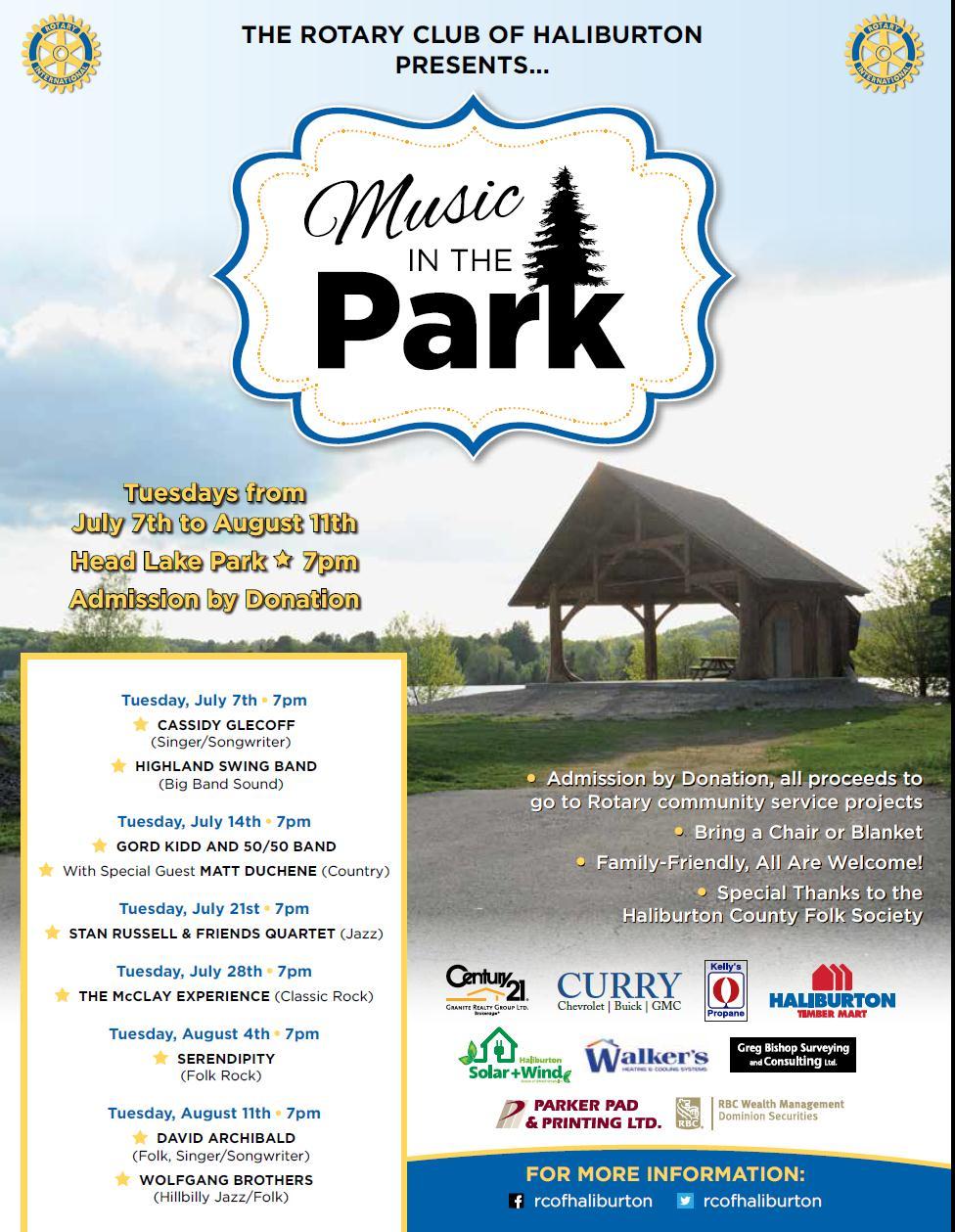 Haliburton Rotary Music In The Park