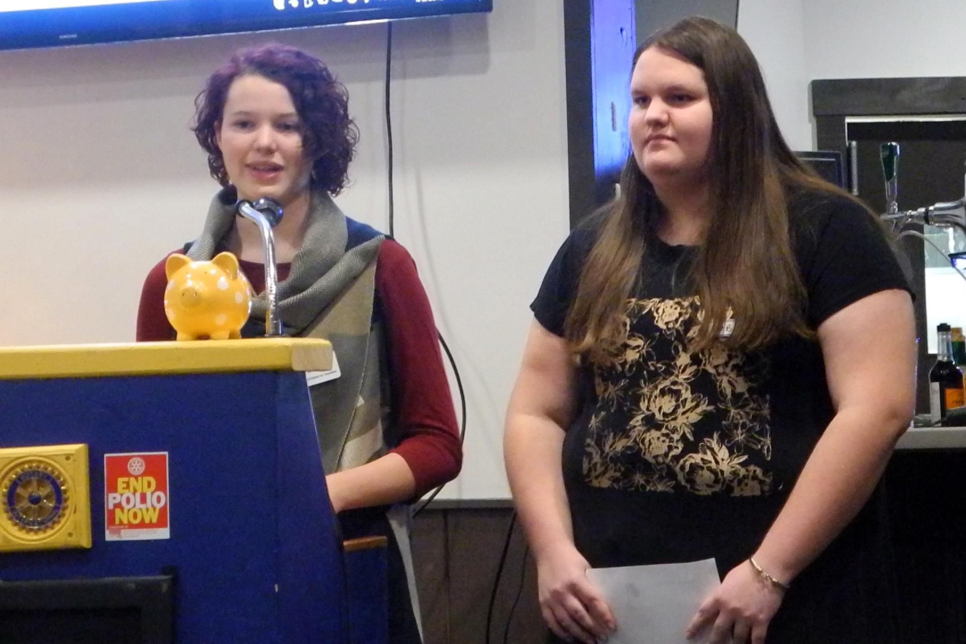 Keira and Amber came to update us on the Huntsville High Robotics team.  They are about to start building their competition robot for this year and  are ...