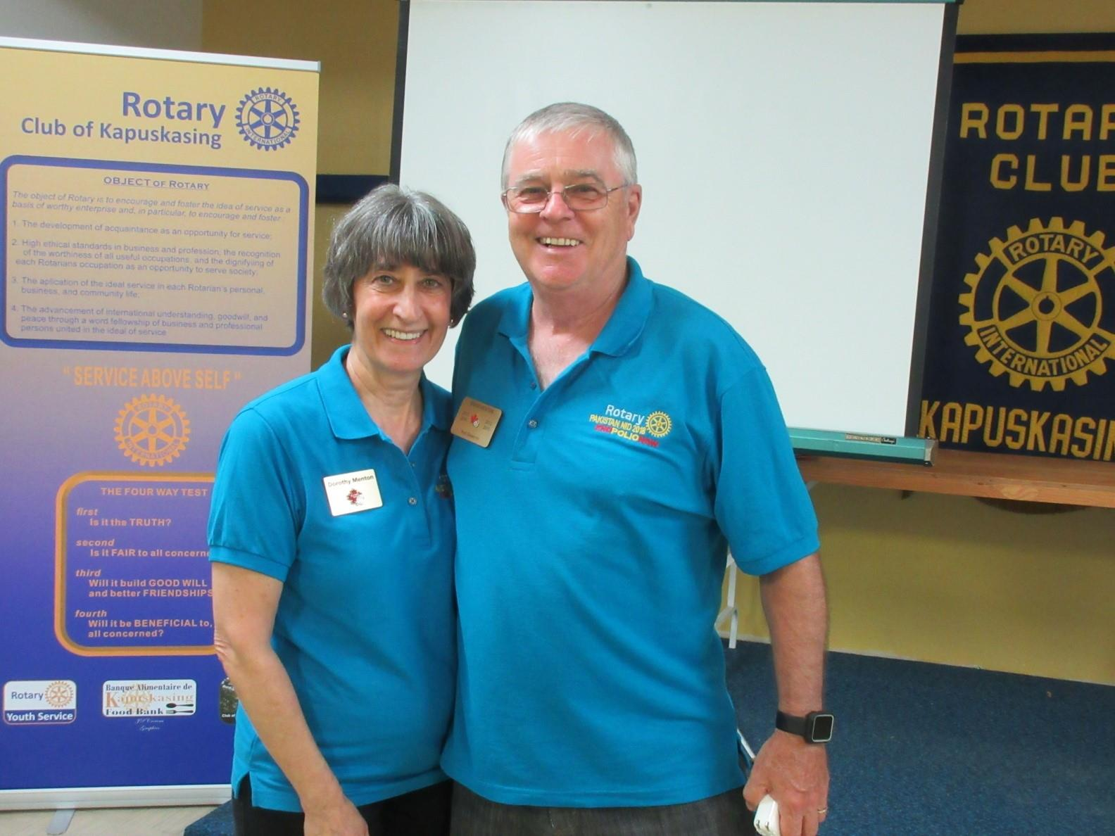 Past District Governor Brian and Dorothy Menton