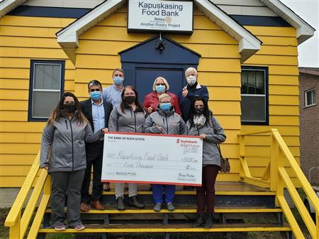Scotia Bank Donation to Food Bank
