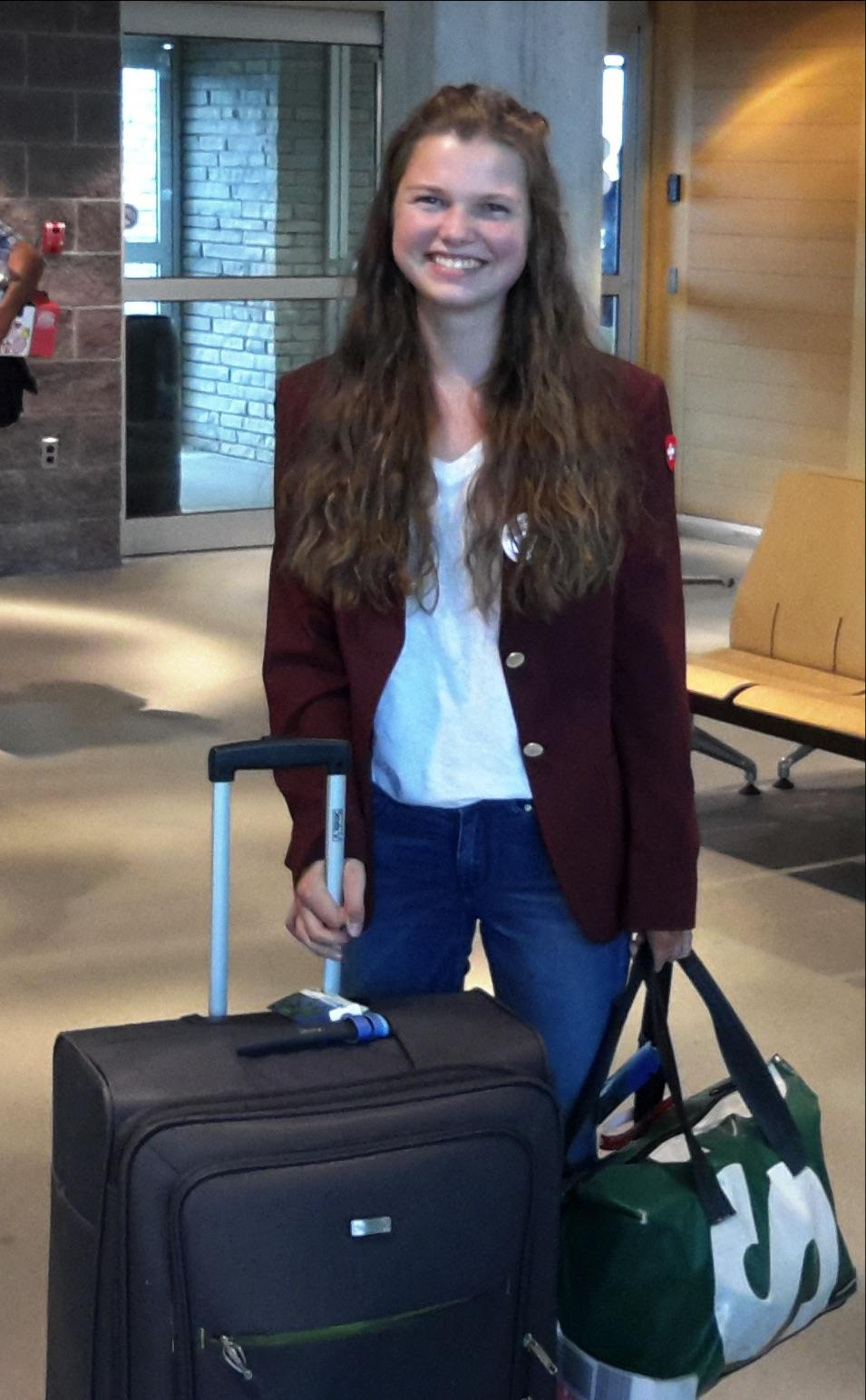 The Club Welcomed Livia Huwyler 2016 2017 Youth Exchange In Bound Student To North Bay On Monday August 22nd Livia Is From Muttenz Switzerland Rotary