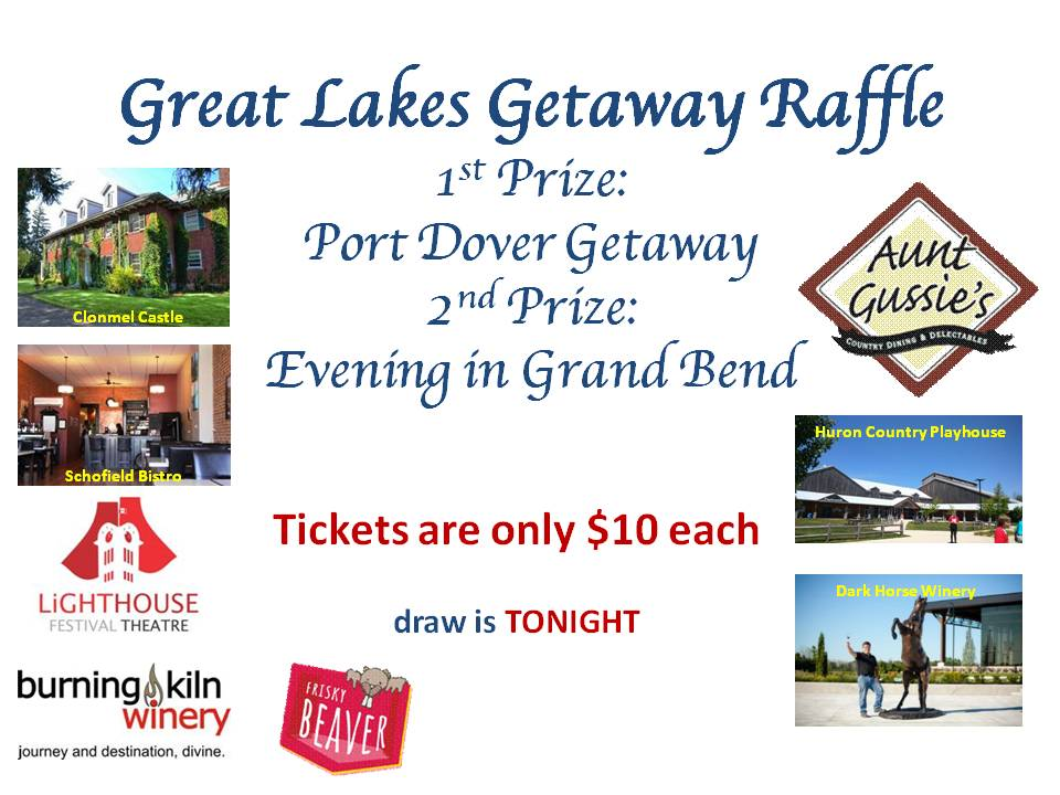 Great Lakes Getaway Raffle Draw Winners | Rotary Club of London Hyde