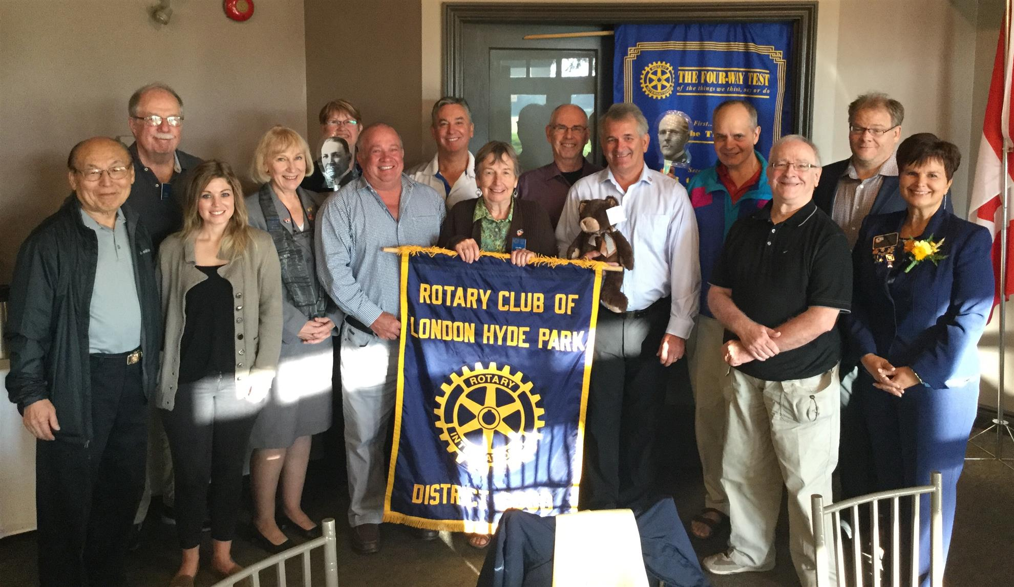 02. Club pledges to introduce our new bear mascot to Rotary