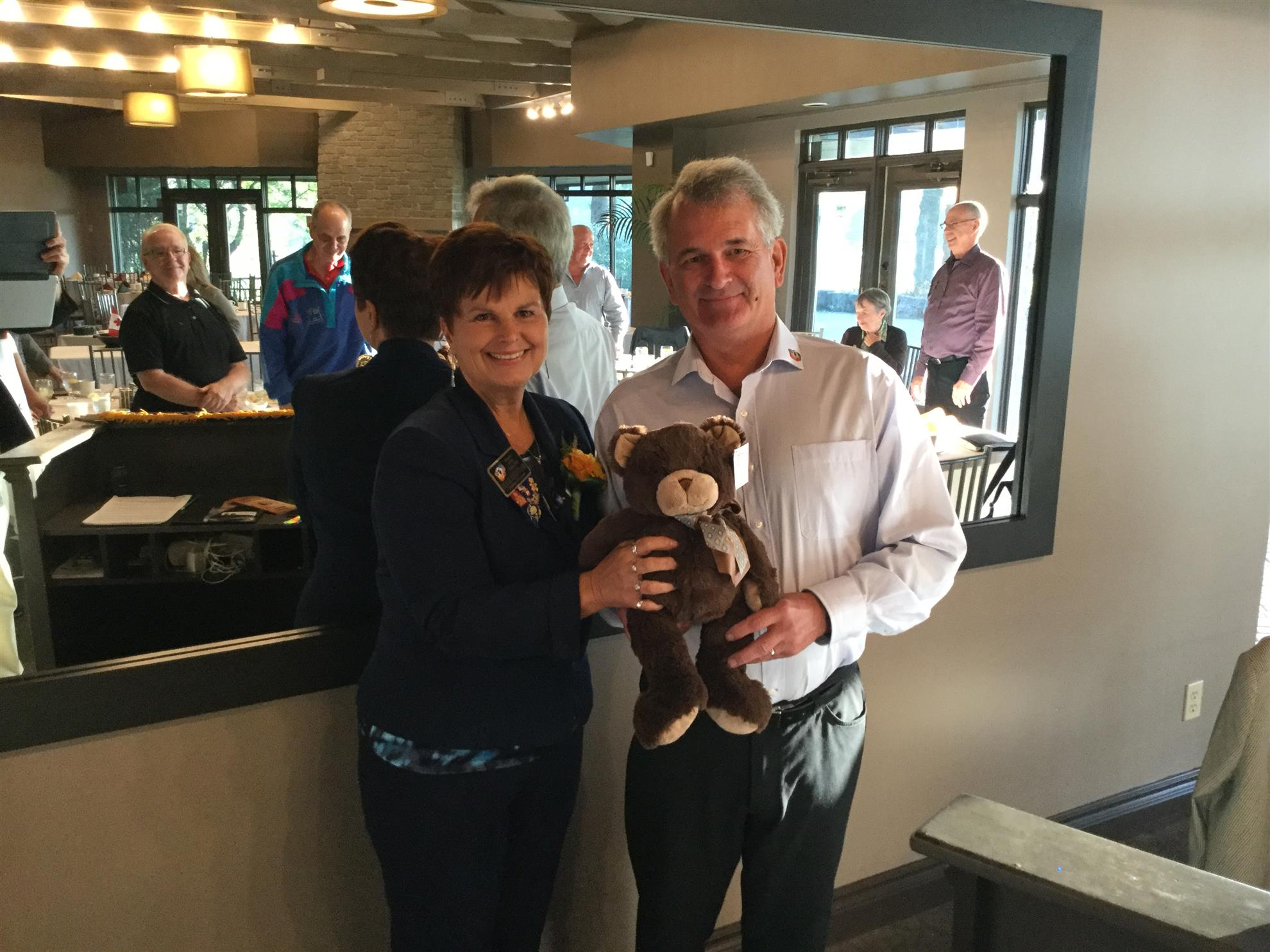 "01. Club Adopts ""newly born"" teddy bear"