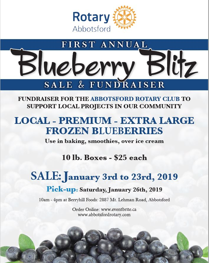 Blueberry Fundraiser
