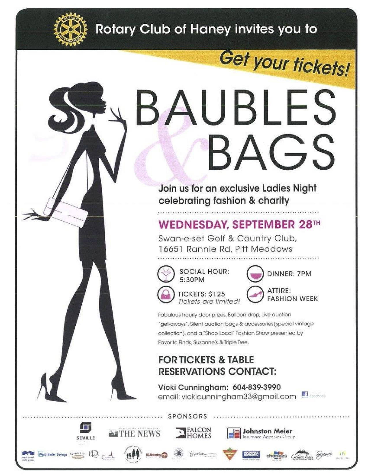 tickets for sale ladies night fundraiser at swan e set september 28 2016 rotary club of haney. Black Bedroom Furniture Sets. Home Design Ideas