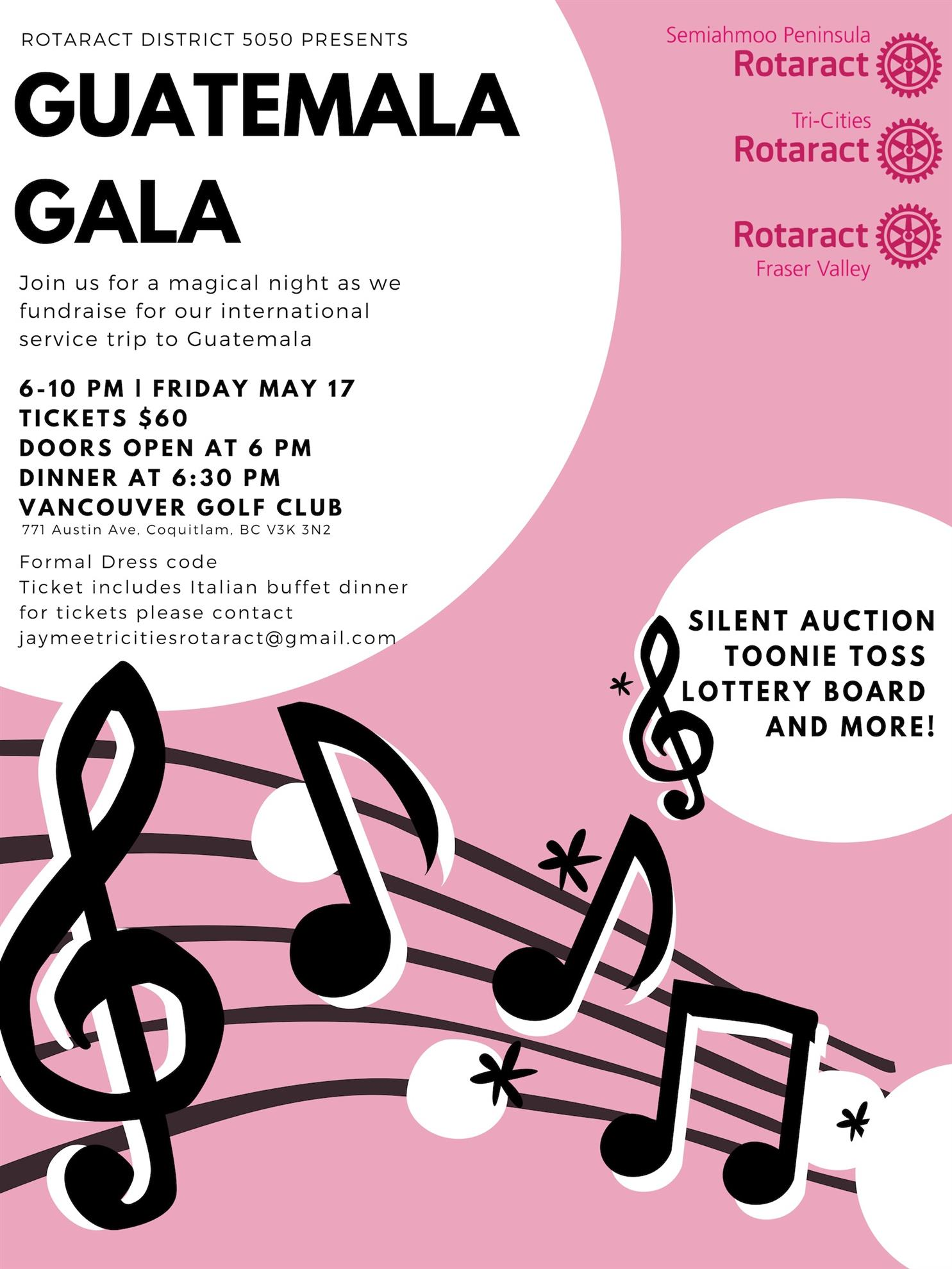 694aac50d3d ... a Pub Night on April 16th at the John B. Tickets are  25.00 Looks like  a fun night   their GALA for Guatemala is on May 17th at Vancouver Golf Club .