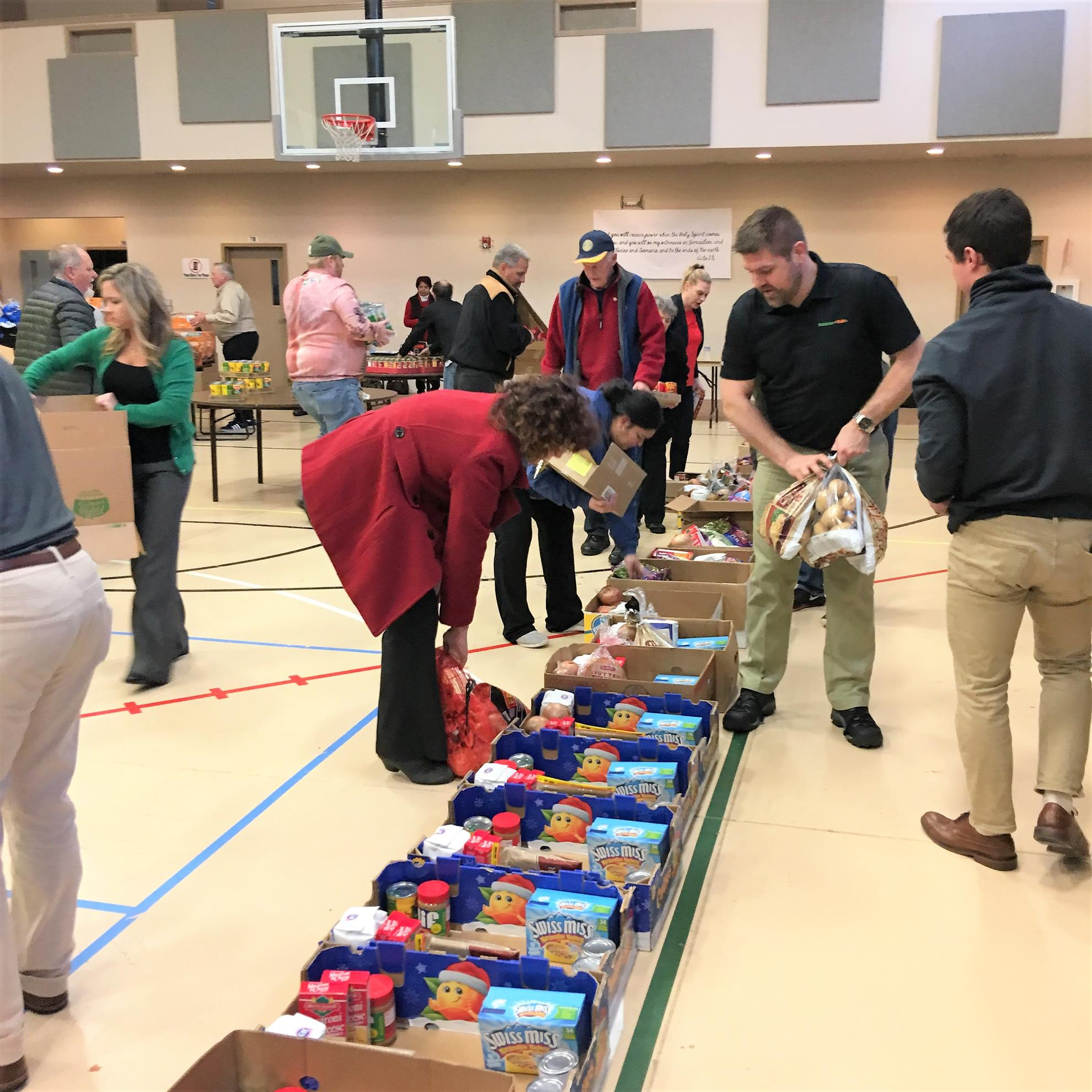 In Addition To The Names Of Families Food Bank Provides A List Items Include Boxes Each Family Received Holiday Ham All