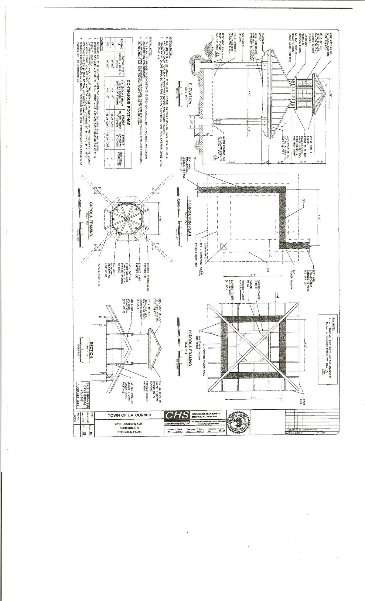 Town Of La Conner Project Rotary Club Laconner Cupola Schematic Here Is A Picture The Pergola That We Are Considering Purchasing For New Park In It Will Be At End Washington Street