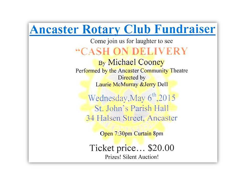 Rotary Ancaster Theatre Night Ticket