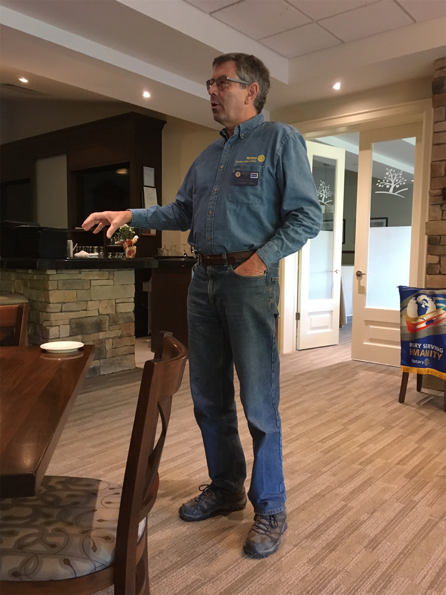 Stories Rotary Club Of Dundas Valley Sunrise Rodeo Bottom Abigail Pants Navy L He Continued Working With Cgi On Outsourcing And Setting Up Help Desks Until His Retirement In 2010