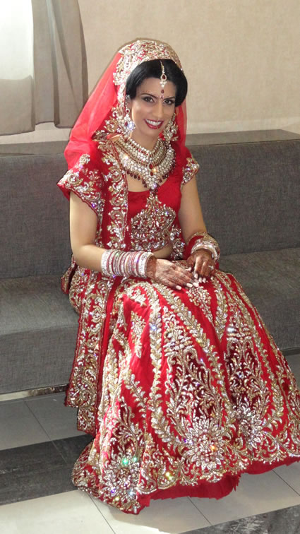 Club President Shikha Sareen in her wedding Saree