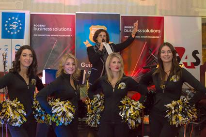 Sunny Genesco and Hamilton Ticat Cheerleaders
