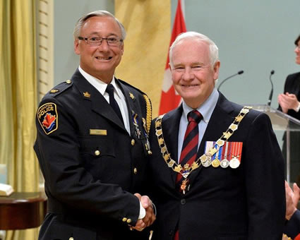 Mike Shea with Governor General David Johnson