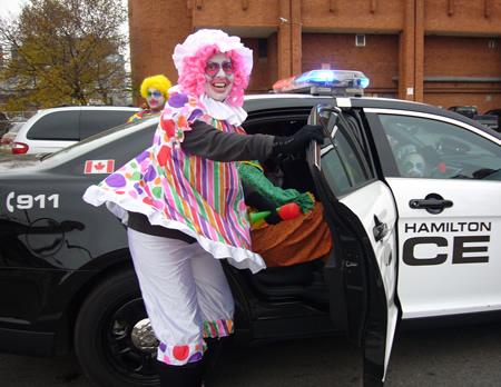 Rotary Clowns for Kids at Hamilton's Santa Claus Parade
