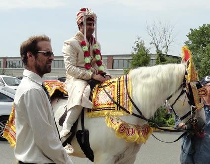 Amit on horseback