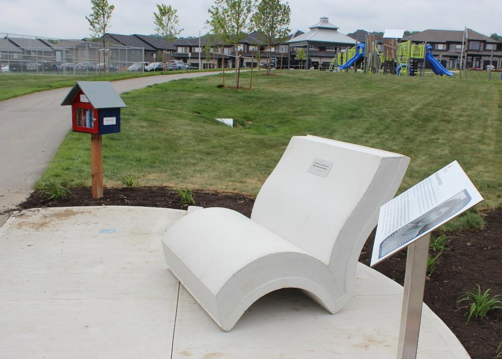 Literacy Lounge featuring RCL Little Lending Library
