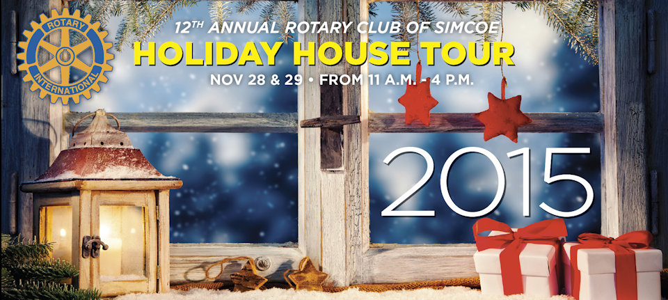 2015 Rotary Holiday House Tour Top Banner