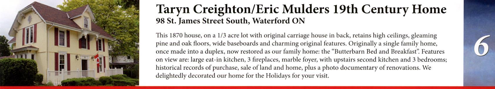 Taryn Creigton/Eric Mulders 19th Century Home