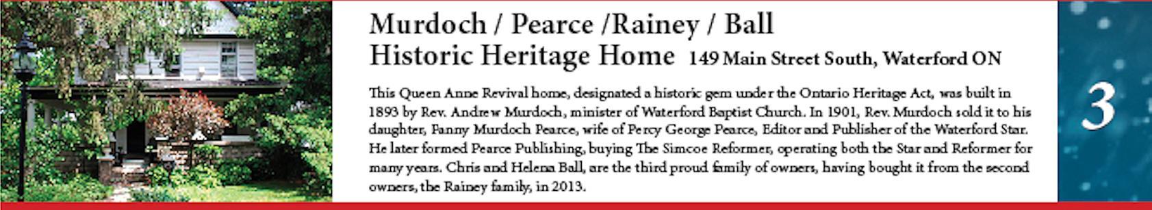 Murdoch/Pearce/Rainey/Ball Historic Heritage home