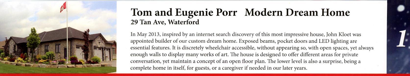 Tom and Eugenie Porr Modern Dream Home