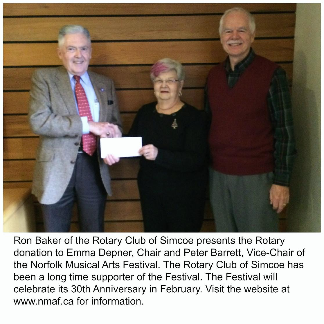 Simcoe Rotary Club Support