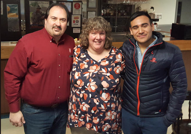 Rotarian Rick Honcharsky, Debbie Morales and Raul Scorza