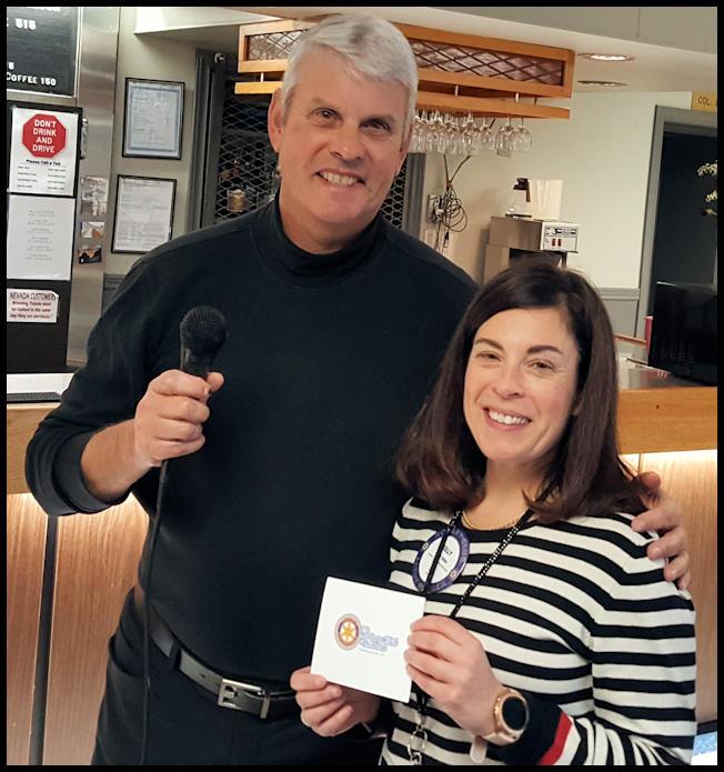 Rotarians Larry Kormos and Kelly Isfan