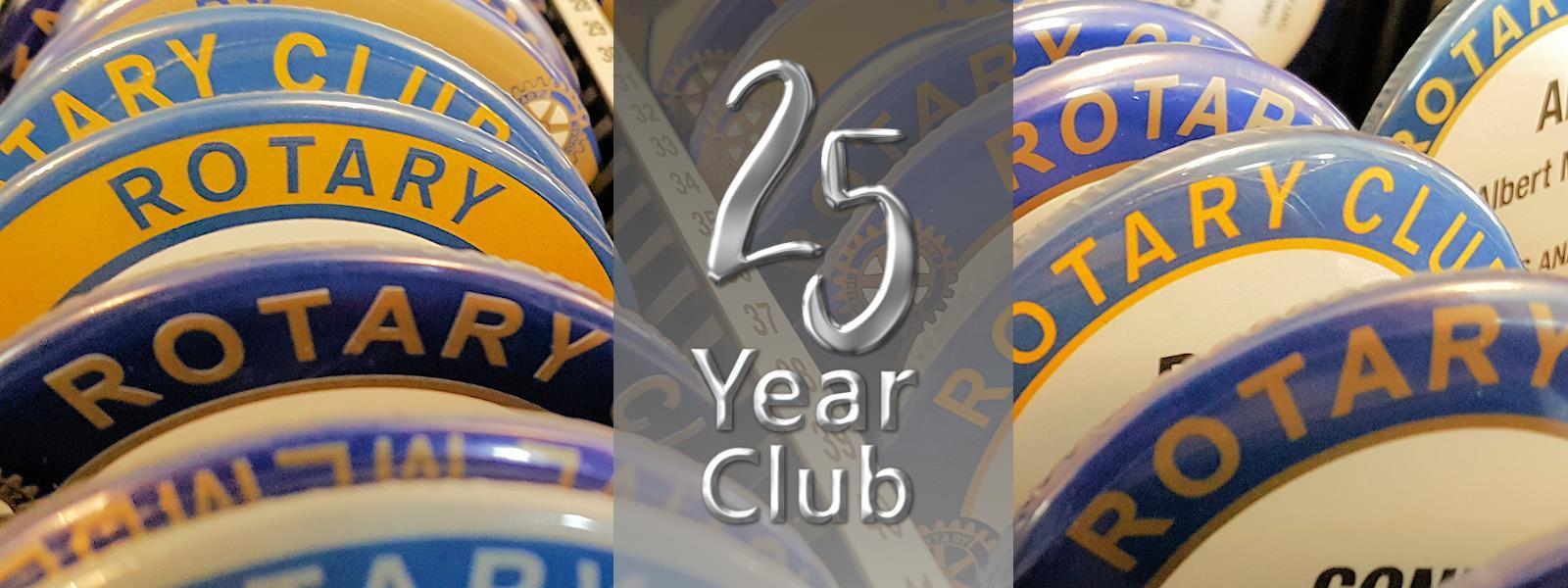 25 Year Club Banner