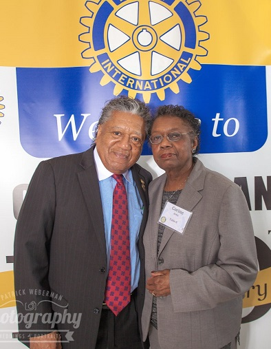District Governor Bob Artis and his wife Corine
