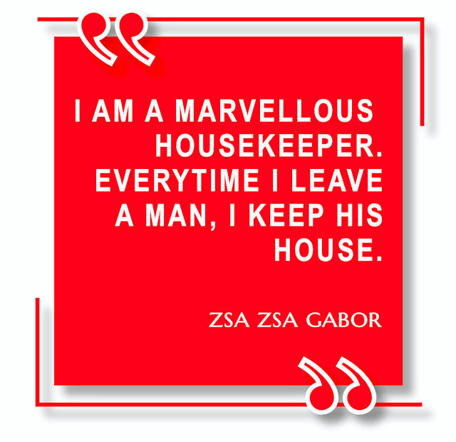 Zsa Zsa Gabor Quotation