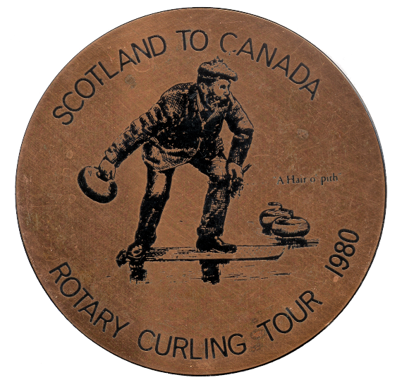 Scotland To Canada Rotary Curling Coaster