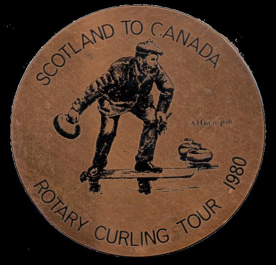 Scotland To Canada Rotary Curling Coaster