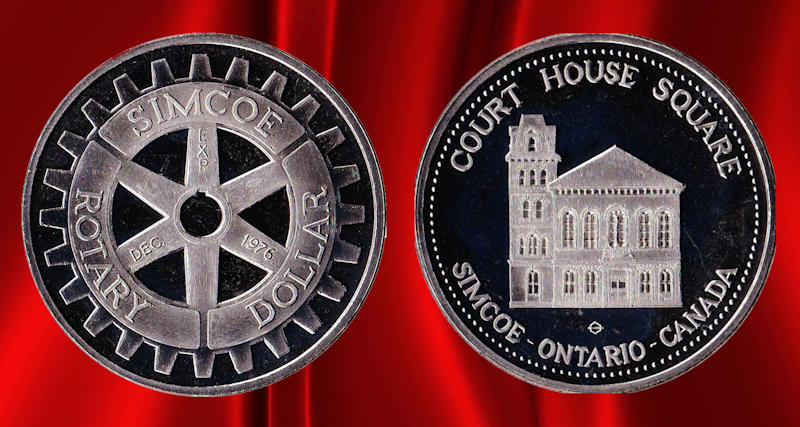 Simcoe Rotary Dollar(Token)_Dec_1976